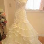 チュール素材のスカートデザインがアクセント!マーメイドドレス!